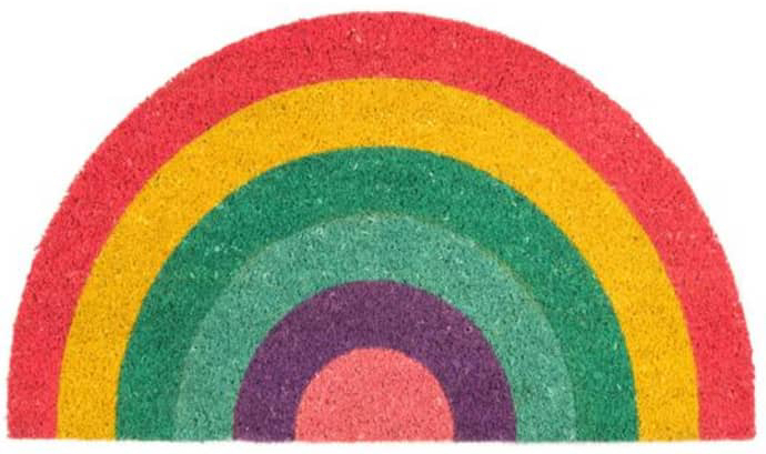 Trouva-colourful-semi-circle-Rainbow-Doormat-by-Fisura